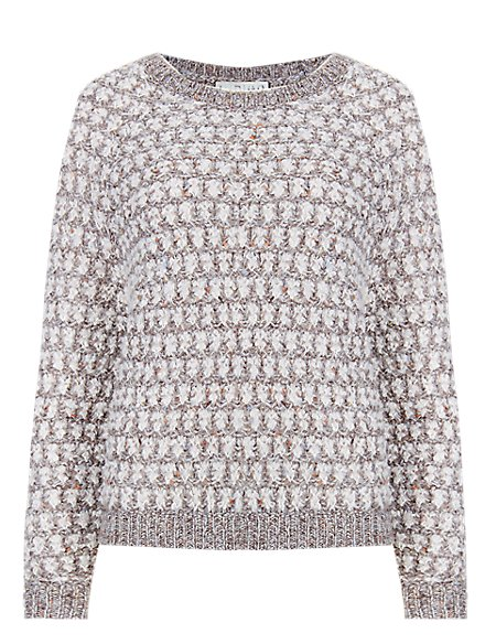 Cloudy Flecked Jumper with Wool