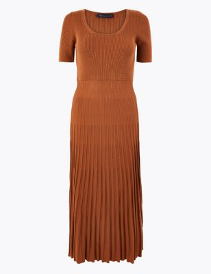 Knitted Fit & Flare Dress by Marks & Spencer