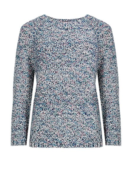 Blurred Flecked Jumper with Mohair