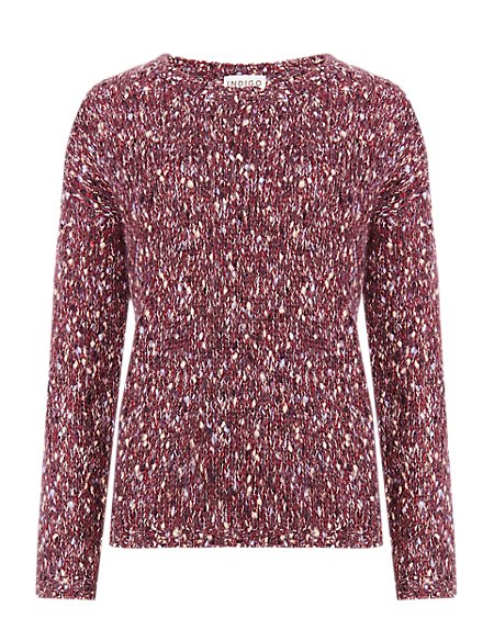 Bobble Flecked Jumper with Mohair