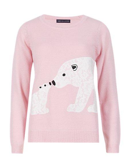 Lace Polar Bear Jumper