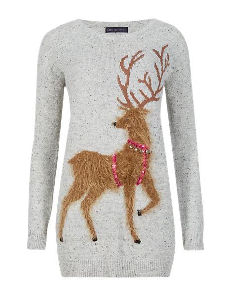 Reindeer Jingle Jumper with Wool