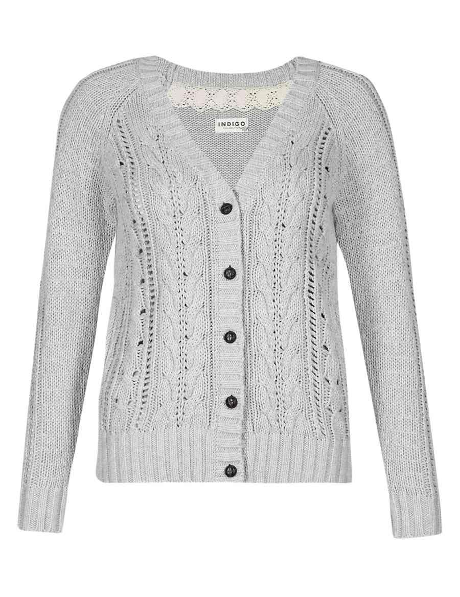 3629e83c20 Pure Cotton Cable Knit Cardigan