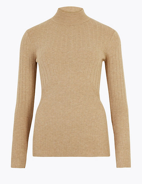 Ribbed Fitted Jumper