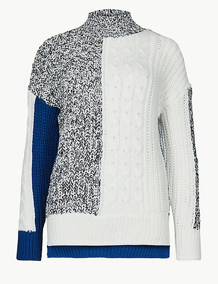 Cable Knit Turtle Neck Jumper