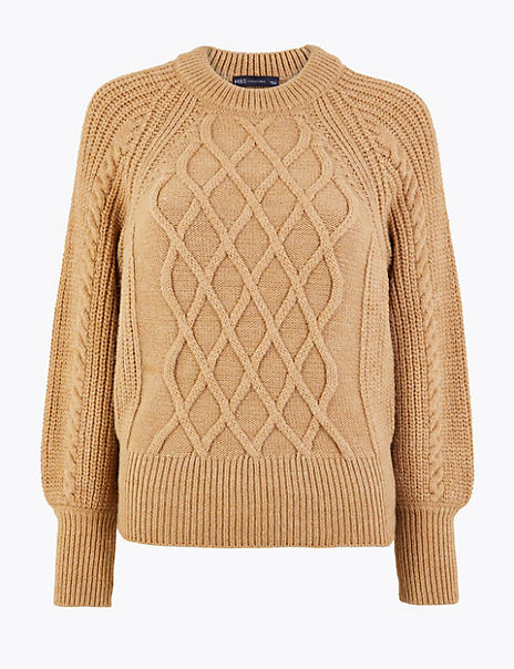 Argyle Cable Knit Jumper