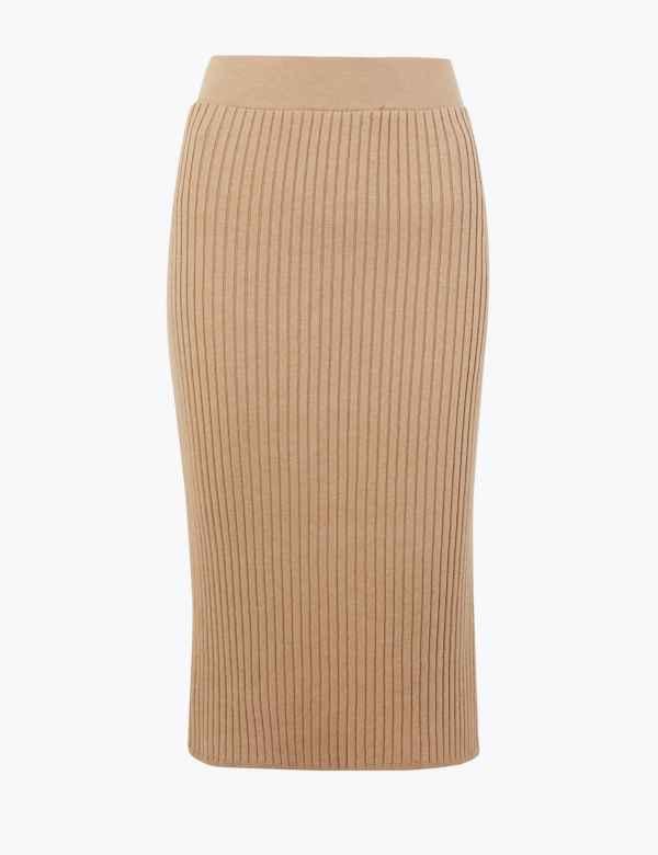 4c8c5d9e2e Knitted Pencil Midi Skirt. New