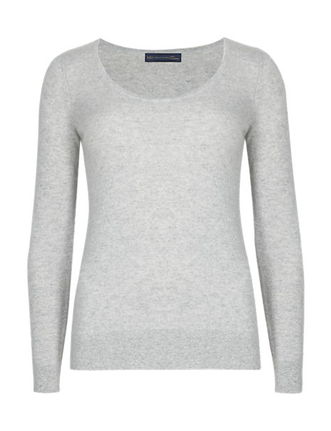 Pure Cashmere Scoop Neck Jumper
