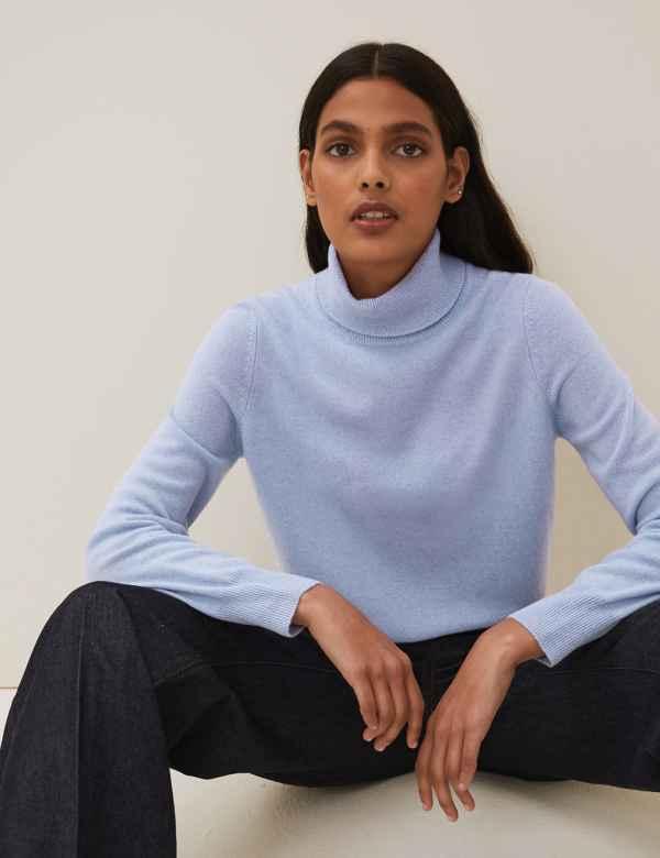 Women's Blue Cashmere | M&S