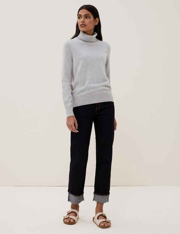 c800006e4 Pure Cashmere Roll Neck Jumper
