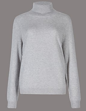 43974e6b014 Pure Cashmere Roll Neck Jumper