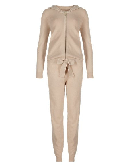 Pure Cashmere Hooded Onesie