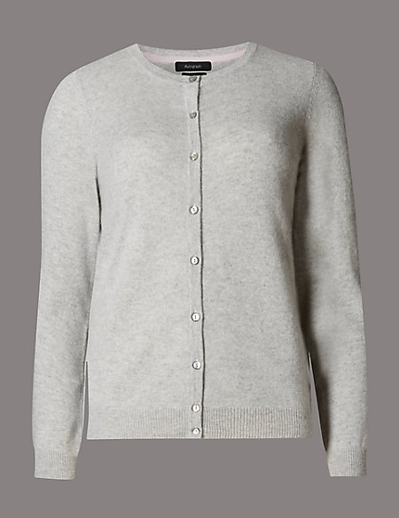 Pure Cashmere Button Through Cardigan