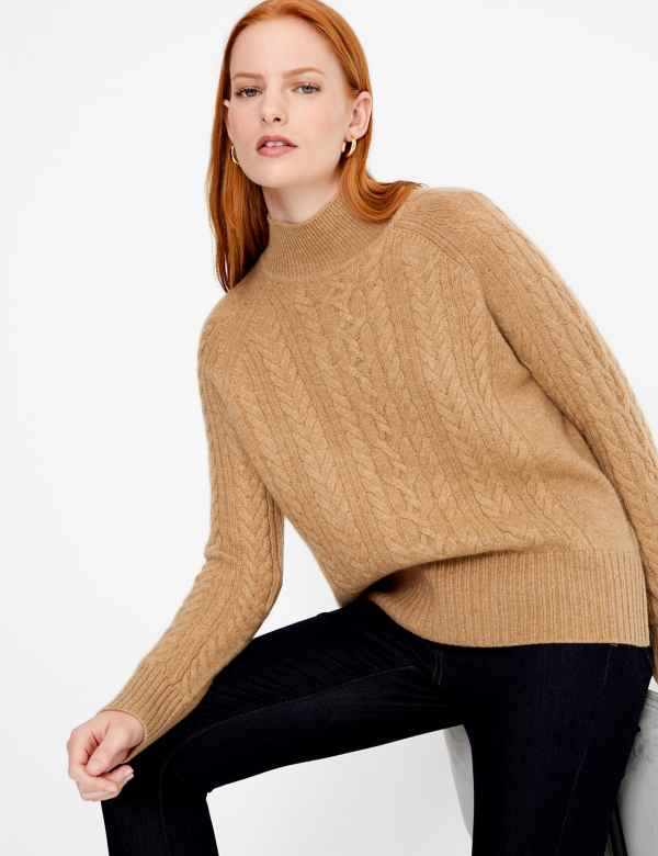 8b88dd907aa Pure Cashmere Relaxed Fit Cable Knit Jumper