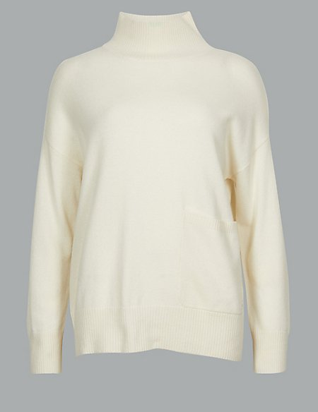 Pure Cashmere High Neck Jumper