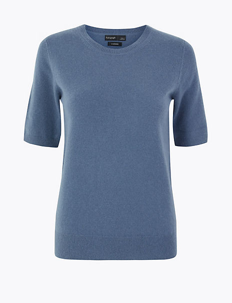 Pure Cashmere Round Neck Knitted Top