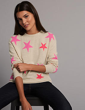 Pure Cashmere Oversized Star Jumper