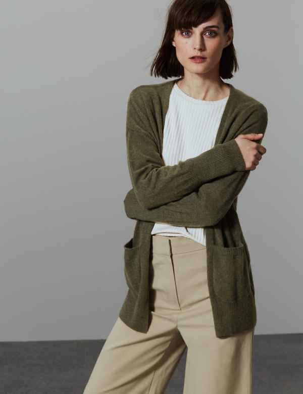 Pure Cashmere Ribbed Cardigan 9cac4fde7
