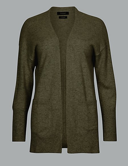 Pure Cashmere Ribbed Cardigan
