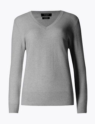 Pure Cashmere V Neck Jumper by Standard Tracked Delivery