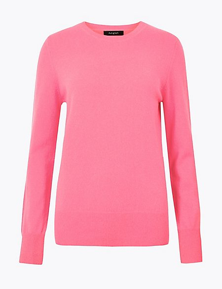 Pure Cashmere Round Neck Jumper