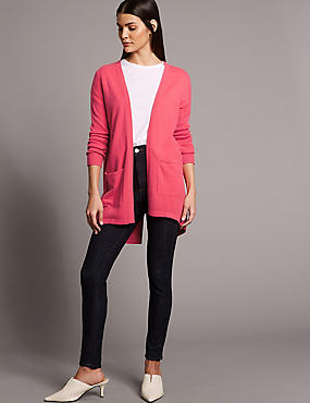 Pure Cashmere Split Back Cardigan
