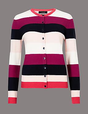 Pure Cashmere Colour Block Cardigan