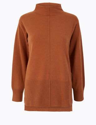 Pure Cashmere Stepped Hem Jumper by Marks & Spencer