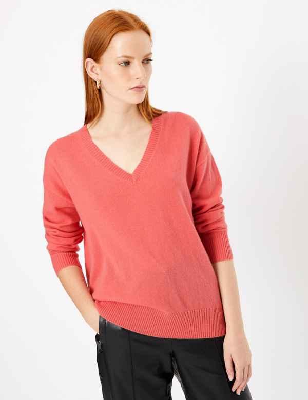 2d1afaf5244 Womens V Neck Knitwear | M&S