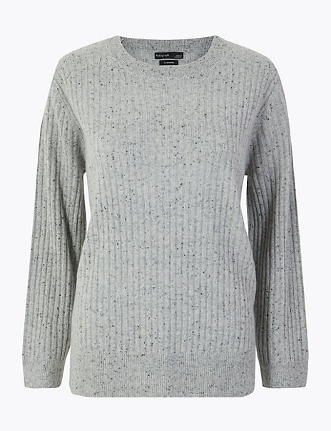 Pure Cashmere Relaxed Ribbed Jumper