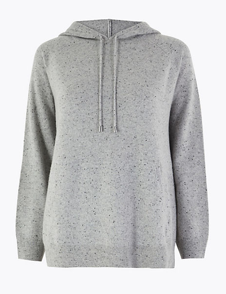 Pure Cashmere Relaxed Fit Hoodie