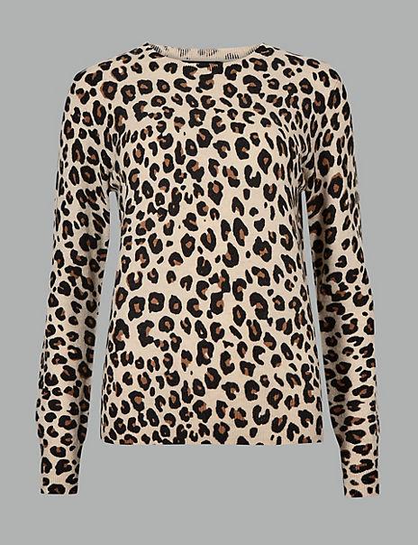 Pure Cashmere Animal Print Jumper