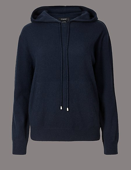 Pure Cashmere Hooded Jumper