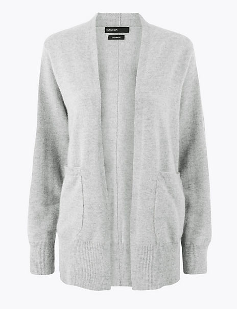 Pure Cashmere Relaxed Fit Longline Cardigan