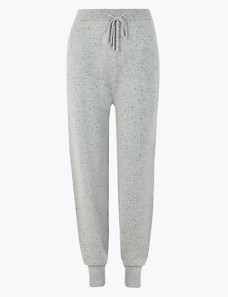 Pure Cashmere Textured Slim Leg Joggers