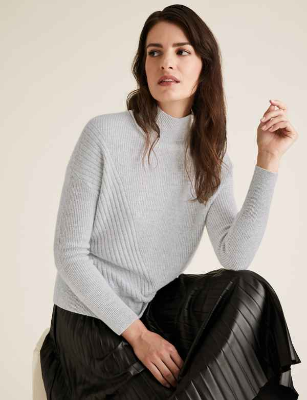 Ladies Cashmere Jumpers | Womens Sweaters & Tunics | M&S