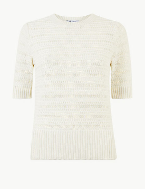Pure Cotton Textured Knitted Top