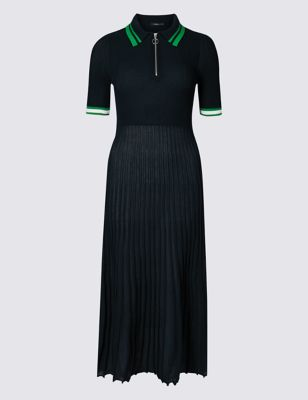 Textured Collared Neck Jumper Dress by Marks & Spencer