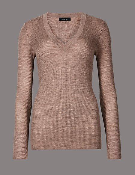 Pure Merino Wool Textured Jumper