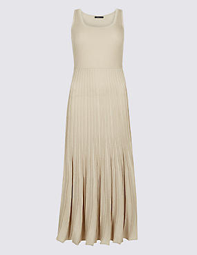 Textured Scoop Neck Jumper Dress , OATMEAL, catlanding
