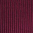 Ribbed Polo Neck Jumper, PLUM, swatch