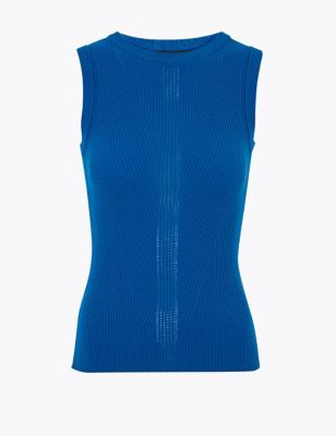 Textured Knitted Sleeveless Top