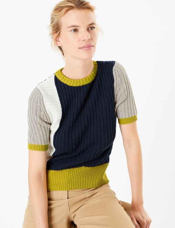 Womens Blue Tops T Shirts M S