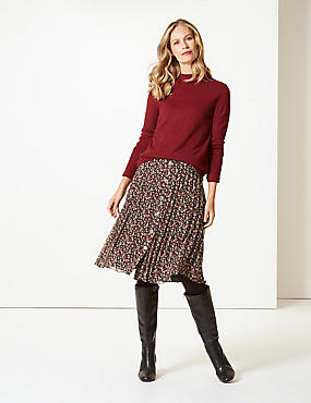 Textured Turtle Neck Jumper , CLARET, catlanding