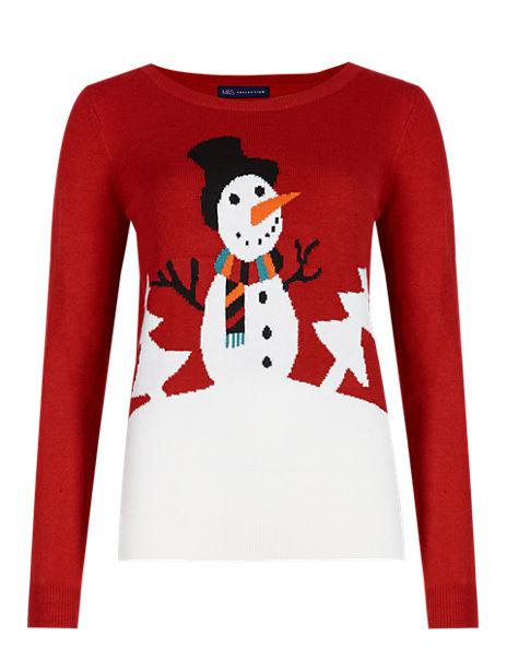 Carrot Snowman Christmas Jumper