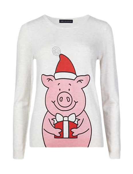 Fun Percy Pig Christmas Jumper