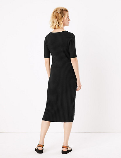 Knitted Midi Fit & Flare Dress