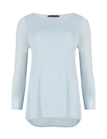 3/4 Sleeve Thick & Thin Jumper