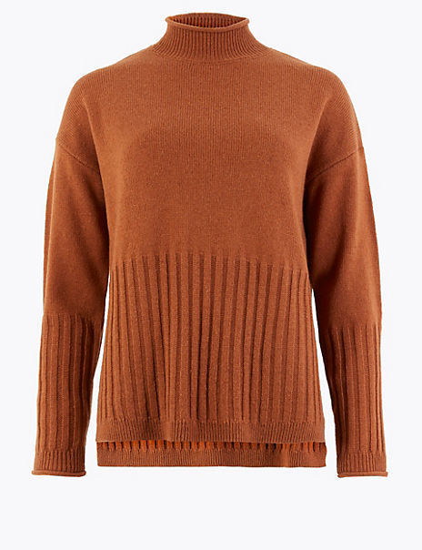Turtle Neck Relaxed Fit Jumper