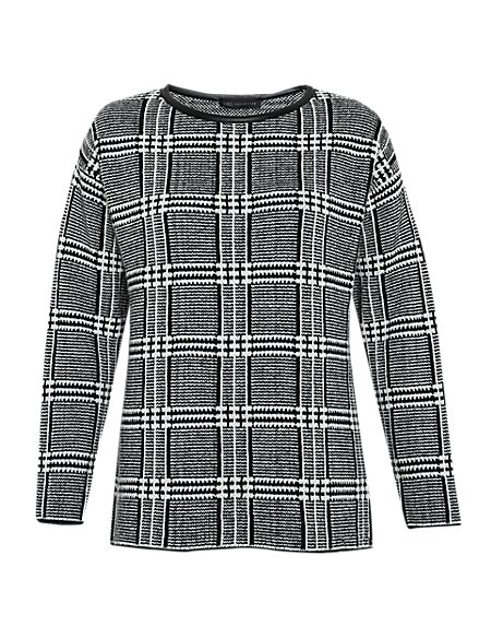 Checked Jumper with Mohair
